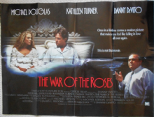 War of the Roses, Original British Quad Poster, Michael Douglas, Turner 89